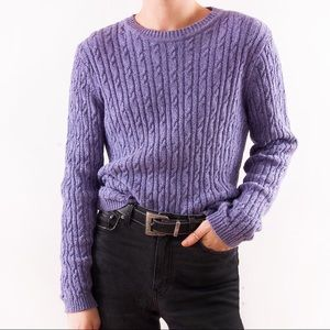 Other - 1990's Vintage Lilac Cable Knit Pullover Sweater